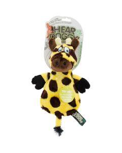 Worldwise Hear Doggy Flattie With Chew Guard-Giraffe