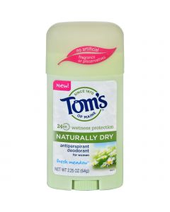 Tom's Of Maine Toms of Maine Deodorant - Naturally Dry - Stick - Fresh Meadow - 2.25 oz - Case of 6
