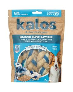 "Jakks Kalos-Rawhide Triple Braids 5"" 7 Pack-Vanilla Yogurt & Blueberry"