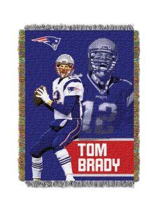 "The Northwest Company Tom Brady - Patriots  ""Players"" 48x60 Tapestry Throw"