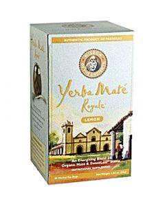 Wisdom of The Ancients Wisdom Natural Organic Yerba Mate Royale Tea Lemon - 1.77 oz