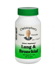 Dr. Christopher's Formulas Dr. Christopher's Lung and Bronchial - 450 mg - 100 Vegetarian Capsules