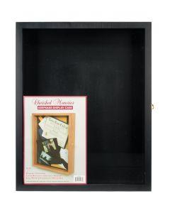 """Darice NEW! Memorybox Wood Display Box w/No Dividers 16""""x20""""-Black"""