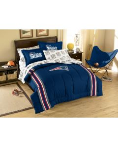 The Northwest Company Patriots Twin/Full Chenille Embroidered Comforter Set (64x86) with 2 Shams (24x30) (NFL) - Patriots Twin/Full Chenille Embroidered Comforter Set (64x86) with 2 Shams (24x30) (NFL)