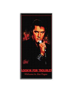 The Northwest Company Elvis-Looking For trouble Entertainment 28x58 Beach Towel