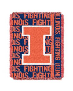 The Northwest Company Illinois College 48x60 Triple Woven Jacquard Throw - Double Play Series