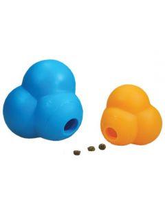 "Our Pets Dog Atomic Treat Ball Blue or Orange 3.75"" x 3.75"" x 3.75"""
