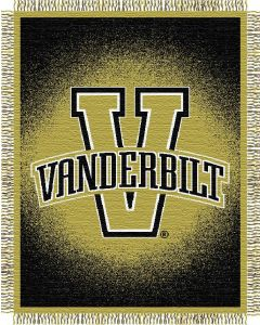 "The Northwest Company Vanderbilt ""Focus"" 48""x60"" Triple Woven Jacquard Throw (College) - Vanderbilt ""Focus"" 48""x60"" Triple Woven Jacquard Throw (College)"