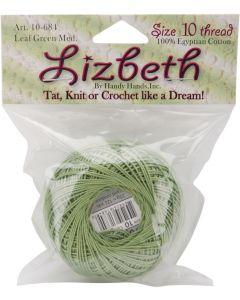 Handy Hands Lizbeth Cordonnet Cotton Size 10-Medium Leaf Green