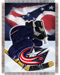 """The Northwest Company Blue Jackets  """"Home Ice Advantage"""" 48x60 Tapestry Throw"""