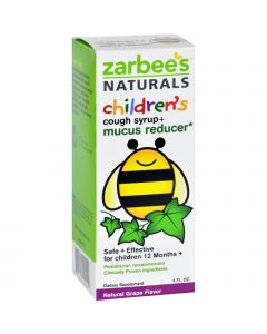 Zarbee's Naturals Children's Mucus Relief + Cough Syrup - Grape - 4 oz - Zarbee's Naturals Children's Mucus Relief + Cough Syrup - Grape - 4 oz