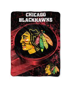 "The Northwest Company Blackhawks   ""Ice Dash"" Micro Raschel Throw"