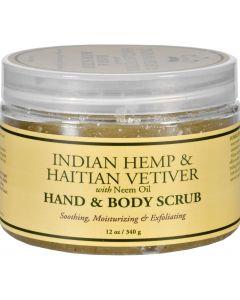 Nubian Heritage Hand and Body Scrub - Indian Hemp and Haitian Vetiver - 12 oz