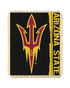 The Northwest Company Arizona State College 48x60 Triple Woven Jacquard Throw - Double Play Series