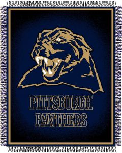 "The Northwest Company Pittsburgh Panthers ""Focus"" 48""x60"" Triple Woven Jacquard Throw (College) - Pittsburgh Panthers ""Focus"" 48""x60"" Triple Woven Jacquard Throw (College)"