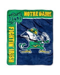 "The Northwest Company Notre Dame ""School Spirit"" 50""x60"" Raschel Throw (College) - Notre Dame ""School Spirit"" 50""x60"" Raschel Throw (College)"