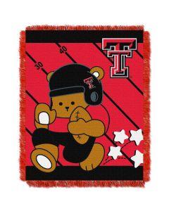 The Northwest Company Texas Tech  College Baby 36x46 Triple Woven Jacquard Throw - Fullback Series
