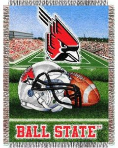 """The Northwest Company Ball State """"Home Field Advantage"""" 48""""x 60"""" Tapestry Throw (College) - Ball State """"Home Field Advantage"""" 48""""x 60"""" Tapestry Throw (College)"""