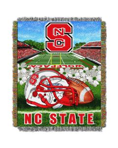 """The Northwest Company NC State College """"Home Field Advantage"""" 48x60 Tapestry Throw"""