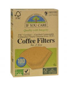 If You Care #2 Cone Coffee Filters - Brown - 100 Count  (Pack of 3) - If You Care #2 Cone Coffee Filters - Brown - 100 Count  (Pack of 3)