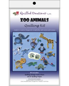 Quilled Creations Quilling Kit-Zoo Animals