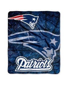 """The Northwest Company PATRIOTS  """"Roll Out"""" 50""""x60"""" Raschel Throw (NFL) - PATRIOTS  """"Roll Out"""" 50""""x60"""" Raschel Throw (NFL)"""