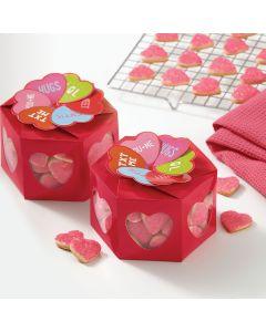 Wilton Treat Box Kit -Words Can Express Hexagon 3/Pkg