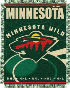"The Northwest Company Minn. Wild 48""x 60"" Triple Woven Jacquard Throw (NHL) - Minn. Wild 48""x 60"" Triple Woven Jacquard Throw (NHL)"