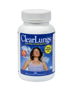 RidgeCrest Herbals ClearLungs Extra Strength - 120 Vegetarian Capsules
