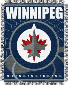 "The Northwest Company Winnipeg Jets 48""x 60"" Triple Woven Jacquard Throw (NHL) - Winnipeg Jets 48""x 60"" Triple Woven Jacquard Throw (NHL)"