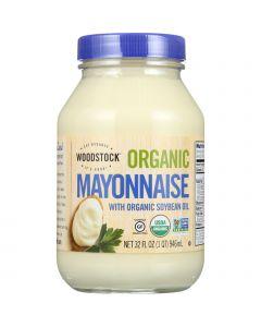 Woodstock Mayonnaise - Organic - with Organic Soybean Oil - Jar - 32 oz - case of 12
