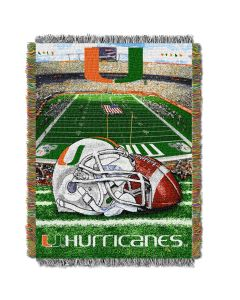 """The Northwest Company Miami College """"Home Field Advantage"""" 48x60 Tapestry Throw"""