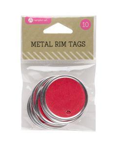 """Hampton Art Metal Rim Tags 10/Pkg-1.5"""", Red"""