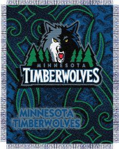 "The Northwest Company Timberwolves 48""x60"" Triple Woven Jacquard Throw (NBA) - Timberwolves 48""x60"" Triple Woven Jacquard Throw (NBA)"