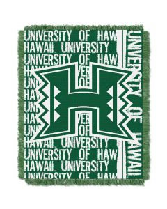 The Northwest Company Hawaii College 48x60 Triple Woven Jacquard Throw - Double Play Series