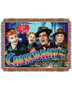 """The Northwest Company Lucy California Here we Com 48""""x60"""" Tapestry Throw"""