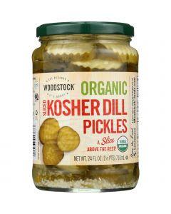Woodstock Pickles - Organic - Kosher Dill - Slices - 24 oz - case of 6