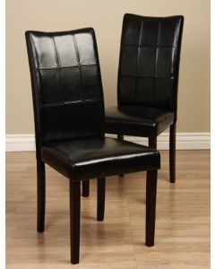 Warehouse of Tiffany Eveleen Black Dining Chair (Set of 2)