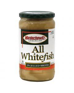 Manischewitz Whitefish in Jelled Broth - Case of 1 - 24 oz. (Pack of 3) - Manischewitz Whitefish in Jelled Broth - Case of 1 - 24 oz. (Pack of 3)