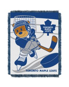 The Northwest Company Maple Leafs  Baby 36x46 Triple Woven Jacquard Throw - Score Series