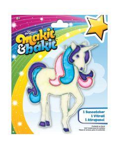 Colorbok Makit & Bakit Suncatcher Kit-Glitter Unicorn
