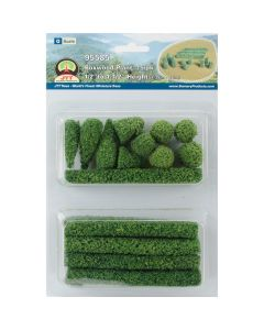 "JTT Scenery Boxwood Plants .5"" To 1.5"" 15/Pkg-"