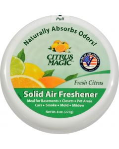 Citrus Magic Air Freshener - Odor Absorbing - Solid - Fresh Citrus - 8 oz (Pack of 3) - Citrus Magic Air Freshener - Odor Absorbing - Solid - Fresh Citrus - 8 oz (Pack of 3)