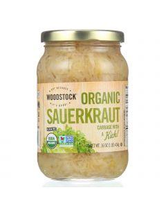 Woodstock Sauerkraut - Organic - Cabbage - 16 oz - case of 12