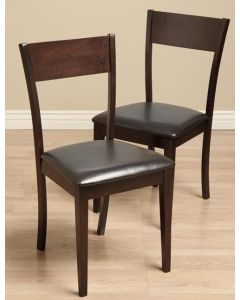 Warehouse of Tiffany IDA Bi-cast Leather Dining Room Chairs (Set of 2)