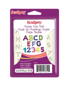 Polyform Sculpey Flexible Push Mold-Letters & Numbers