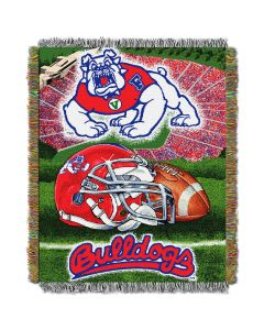 "The Northwest Company Fresno State College ""Home Field Advantage"" 48x60 Tapestry Throw"