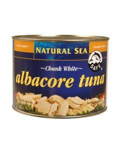 Natural Sea White Albacore Tuna - No Salt - Case of 6 - 66.5 oz.