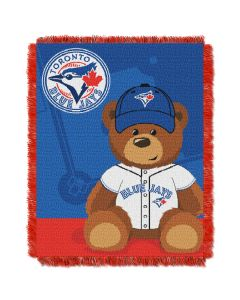 The Northwest Company Blue Jays  Baby 36x46 Triple Woven Jacquard Throw - Field Bear Series