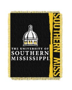 The Northwest Company Southern Mississippi College 48x60 Triple Woven Jacquard Throw - Double Play Series